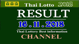 Thai Lottery Result 16 / 11 / 2018 Friday - YouTube