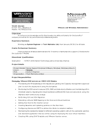 Resume. 1 Vinoth Arjunan E-mail: vinu_v@yahoo.in VMware and Windows  Administrator ...