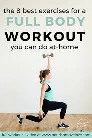 the best at home strenght hiit workout for women nourishmovelove com
