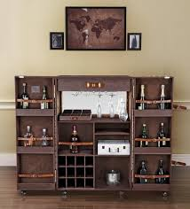 bar trunk furniture. heritage trunk bar cabinet in brown leather by studio ochre furniture r