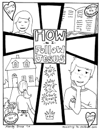 Coloring Pages Follow Jesus Directions To Download This File As