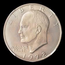 1972 Eisenhower Dollar Value Chart 1972 1 Ms Eisenhower Dollars Ngc