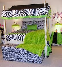 black and white zebra lime green bedding
