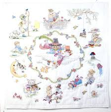 Cross Stitch Baby Quilts – co-nnect.me & ... Bucilla Mary Engelbreit Mother Goose Lap Quilt Stamped Cross Stitch 45  Inches By Bucilla Cross Stitch ... Adamdwight.com