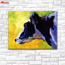 large wall art impressionist cow canvas painting for living room home decoration oil painting on canvas