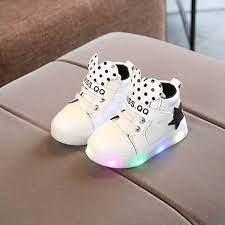 Thời Trang Phong Cách Hàn Quốc Dạ Quang Giày Casual Giày Trẻ Em Chống Trượt  Đèn LED Lên Giày Đa Năng Cho Bé Gái Bé Trai|Già…