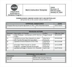 Work Instruction Template How To Write Work Instructions Template With Ms Word Templates