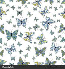 Obrázek Motýla Krásný Barevný Motýl Pozadí Bílé Modré Neutrální