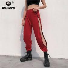2019 <b>ROHOPO</b> Women Side Zipper Pencil Pant Real Zipper Leg ...