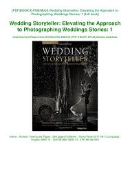 Roberto Valenzuela Picture Perfect Lighting Pdf Pdf Wedding Storyteller Elevating The Approach To
