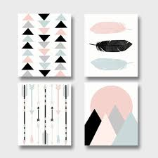 modern art print set printable art set of 4 prints boho