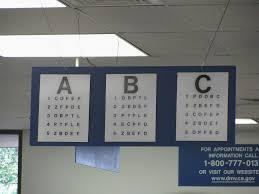 Eye Exam Chart For Dmv Ohio Bmv Vision Test Chart Www Bedowntowndaytona Com