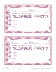 sleepover template sleepover invitations 2 worksheet education com