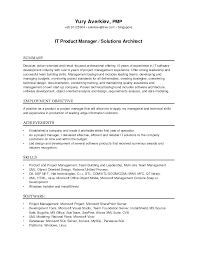 Effective It Product Manger And Solutions Architect Resume