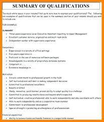 Skill Summary Resume Examples Summary Of Qualifications Resume