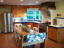 Kitchens With Terracotta Floors Country Kitchen With Breakfast Nook Drop In Sink In Corvallis