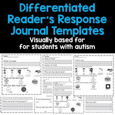 Journal Templates Differentiated Readers Response Journal Templates For Students With Autism