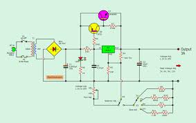 Shunt Regulator Circuit Design Lm317 2n3055 3a Variable Power Supply Electronics Projects