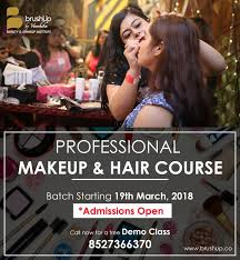 next professional makeup hair course batch starting 19th march 2018
