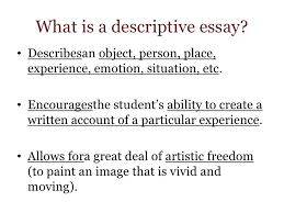 descriptive essay for week  the descriptive essay<br > 2
