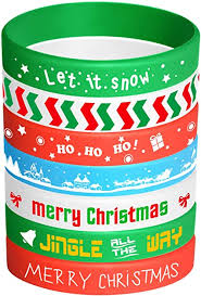 FEPITO 35 Pieces Christmas Wristband Silicone ... - Amazon.com
