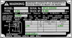 How To Read Forklift Load Capacity Chart Powered Industrial Trucks Etool Types Fundamentals