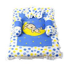 morisons baby dreams bunny print baby bed set blue