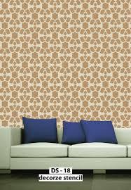 damask stencils living room designs