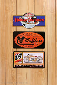 Harley Davidson Signs Decor Decorating With HarleyDavidson Signs 47