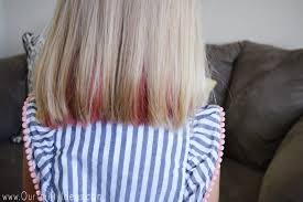 add temporary hair color to your hair using kool aid