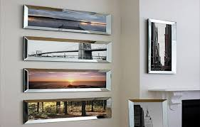 absolutely mirrored wall frame good picture mirror idea nice for art in hanging photo glass gallery