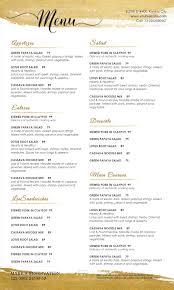 Word Restaurant Menu Templates Examples Restaurant Free Restaurant Menu Template Microsoft Word