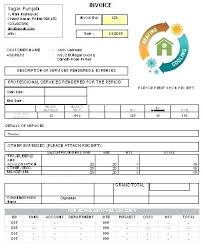 Hvac Invoice Templates Enchanting Invoice Plate Free With Blank Plates In Word Excel Billing Hvac