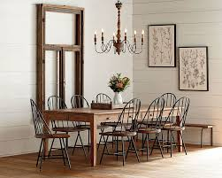 keeping table dining room magnolia home windsor benchwindsor chairsrustic