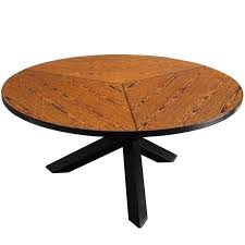 martin visser round dining table in wengé for t spectrum for
