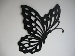 image of black metal erfly wall decor