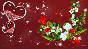 Valentine Roses Vector Wallpaper - Love ...