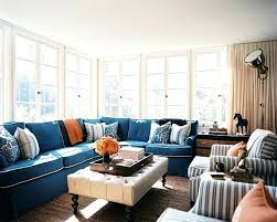 navy sectional sofa with white piping ideas for how to style and decorate a sectional or