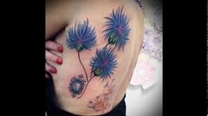 значение тату василек варианты готовых тату на фото Cornflower Tattoo видео