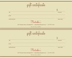 Restaurant Gift Certificate Template Dinner Printable