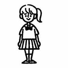 女の子シルエット イラストの無料ダウンロードサイトシルエットac
