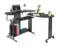 computer desk pc table folding home office furniture l shape black fold away