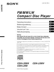 sony cdx l550x fm am compact disc player manuals Sony Cdx L550x Wiring Diagram sony cdx l550x fm am compact disc player operating instructions manual sony cdx l510x wiring diagram
