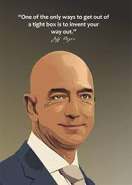 quote of jeff bezos' Poster by Ratna ...