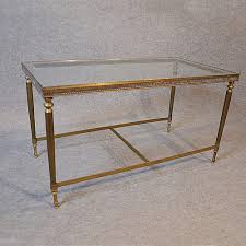 coffee table art deco brass glass top midcentury retro and vintage coffee tables alt5 alt6