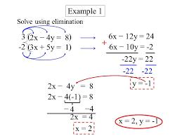 3 solve using elimination