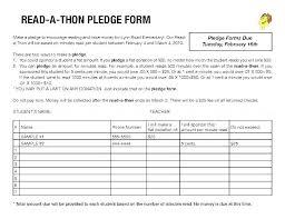 Walkathon Pledge Form Templates Pledge Sheets For Fundraising Template Ndtech Xyz