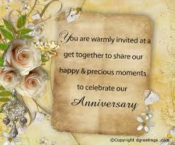 anniversary invitation wording