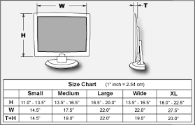 Computer Monitor Sizes Chart Geargrip Lcd Harness