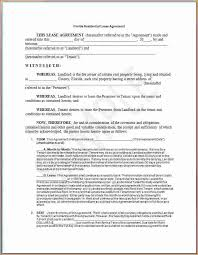 lease contract template 4 lease contract sample printable receipt